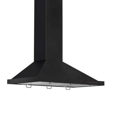 ZLINE 30 in. Wall Mount Range Hood in Black with Copper Accents