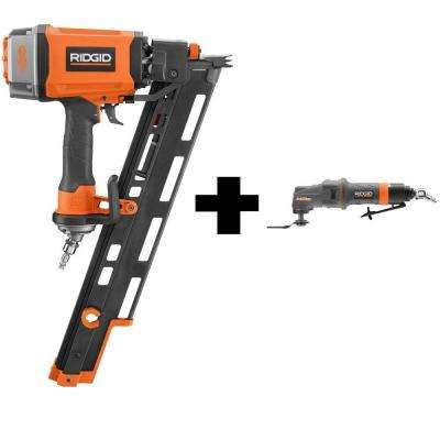 3-1/2 in. 15 Degree Round Head Framing Nailer and Pneumatic JobMax Multi-Tool Starter Kit