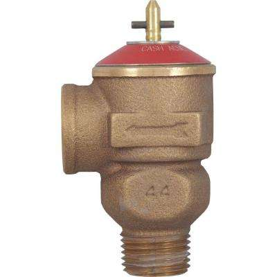 1/2 in. Brass Male Inlet x 1/2 in. Female Outlet FWOL Pressure Relief Valve