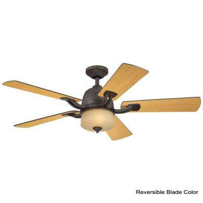 Ripley 52 in. Indoor Brownstone Ceiling Fan