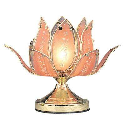10 in. Gold Tulip Touch Table Lamp