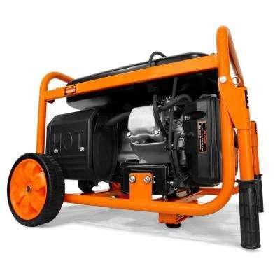5000-Watt RV-Ready 120-Volt/240-Volt Gas-Powered Portable Generator with Wheel Kit