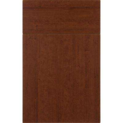 14x12 in. Sumter Thermofoil Cabinet Door Sample in Sunset Cherry