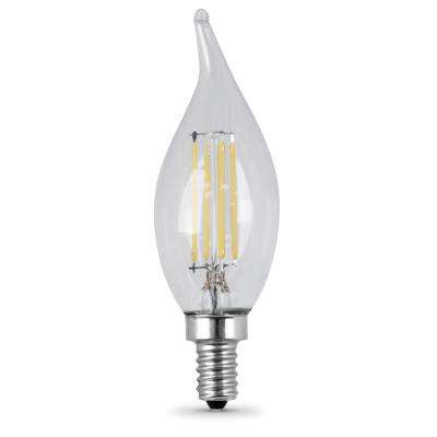 25W Equivalent Soft White CA10 Dimmable Clear Filament LED Candelabra Base Light Bulb (Case of 48)
