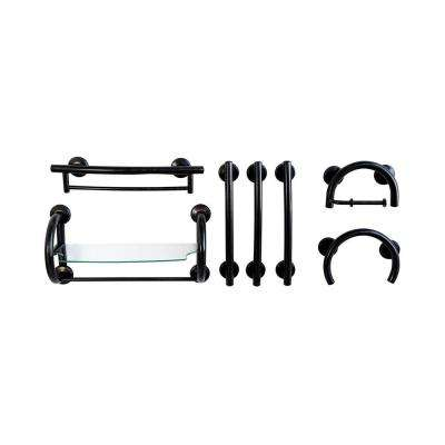 7-Piece SafeGrip Grab Bar Accessory Package in Oil Rubbed Bronze