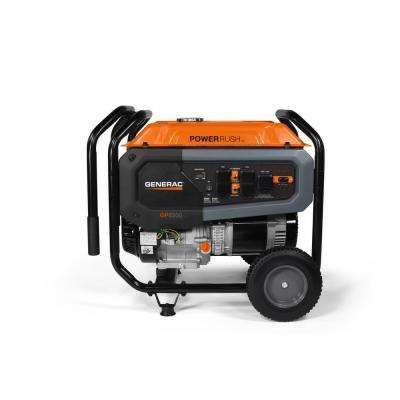 GP 6500-Watt Manual Start Gas Powered Portable Generator 49/CSA with CO-Sense and Transfer Switch Outlet for Home Backup