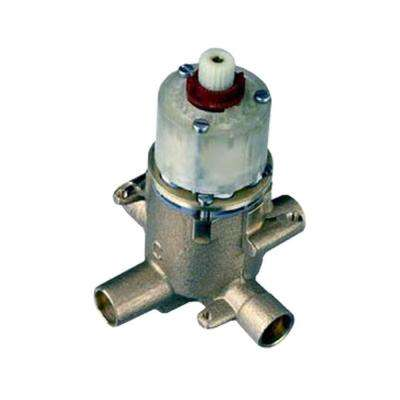 Pressure Balanced Rough Valve Body with 1/2 Pex Inlets and Direct Sweat Outlets