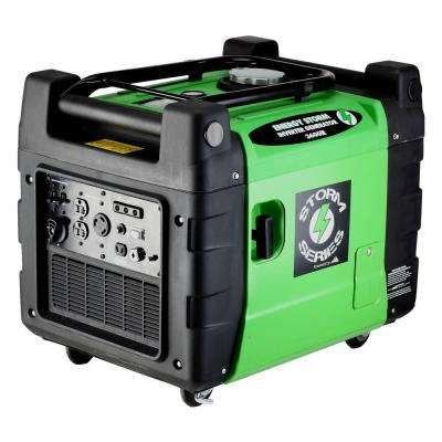 Energy Storm 3,500-Watt 9 HP 270cc Gasoline Powered Electric Start Inverter Generator with Remote - CARB