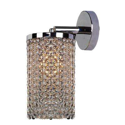 Prism Collection 1-Light Chrome Crystal Sconce