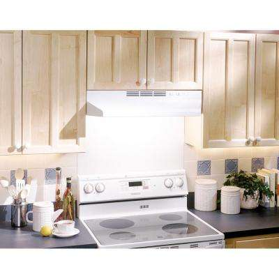 41000 Series 36 in. Ductless Under Cabinet Range Hood with Light in White