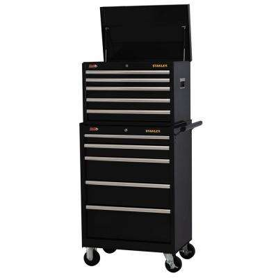 27 in. 10-Drawer Tool Chest and Cabinet Combo, Black