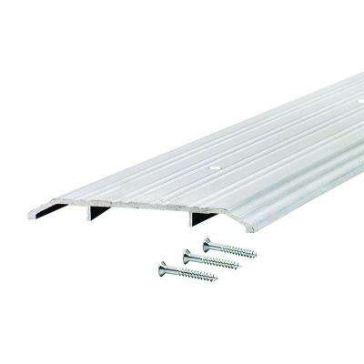 Fluted Saddle 5 in. x 84.5 in. Aluminum Commercial Threshold