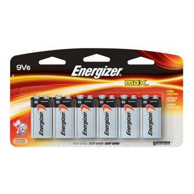 MAX Alkaline 9-Volt Battery (6-Pack)