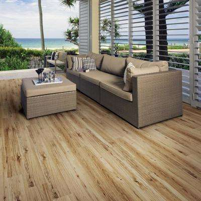 Embossed Pine Natural 7 in. Wide x 48 in. Length Click Lock Luxury Vinyl Plank (23.36 sq. ft. / case)