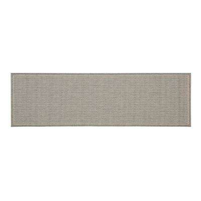 Saddlestitch Grey/Champagne 2 ft. 3 in. x 7 ft. 10 in. Indoor/Outdoor Runner