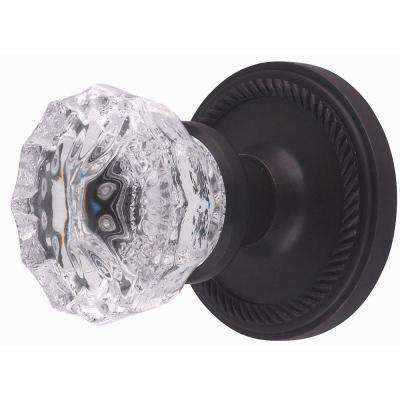 Oil-Rubbed Bronze Crystal Full Dummy Knob