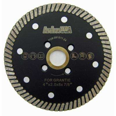 4 in. Narrow Turbo Diamond Blade for Granite Cutting