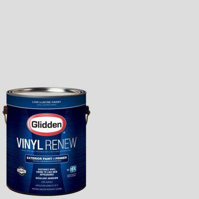 1 gal. #HDGCN61U Snowfield White Low-Lustre Exterior Paint with Primer