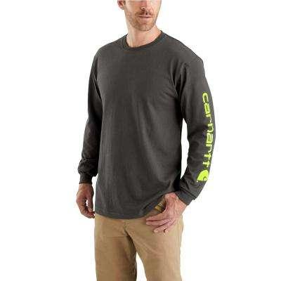 Men's Workwear Long-Sleeve Graphic Logo T-Shirt