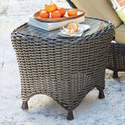 Lake Adela 20.5 in. H x 22 in. W Charcoal Patio Side Table