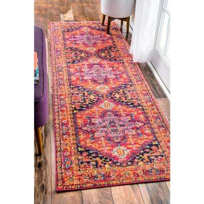 Fancy Persian Vonda Pink 3 ft. x 8 ft. Runner Rug