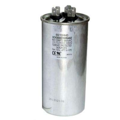 440-Volt 60/10 MFD Dual Rated Motor Run Round Capacitor