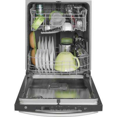 24 in. Top Control Built-In Tall Tub Dishwasher in Stainless Steel with Steam Prewash, 48 dBA