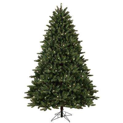 7.5 ft. Pre-Lit LED Just Cut Frasier Fir Artificial Christmas Tree with EZ Light Technology and Warm White LED Lights