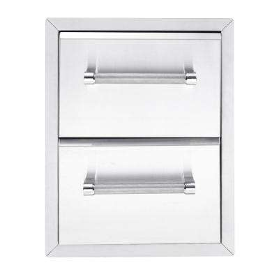 18 in. Built In Grill 2 drawer Large Cabinet