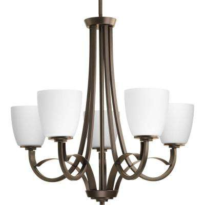 Merge Collection 5-Light Antique Bronze Chandelier