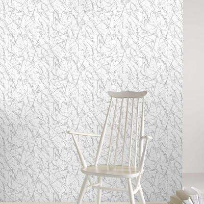Silver Splatter Removable Wallpaper