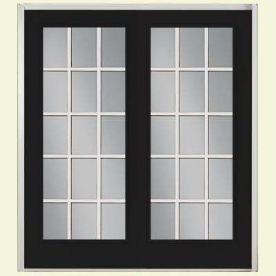 Prehung 15 Lite GBG Fiberglass Patio Door with No Brickmold