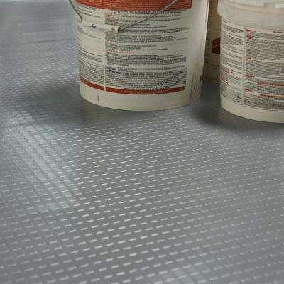 """Block-Grip"" 4 ft. x 20 ft. Dark Gray Commercial PVC Flooring"