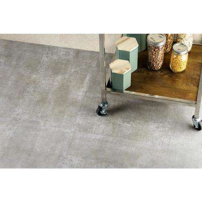 Essential Cement Gray 24 in. x 24 in. 10mm Matte Porcelain Floor and Wall Tile (4-piece 15.49 sq.ft. / box)