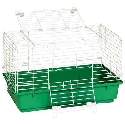 24.5 in. Wire with Plastic Tray Rabbit Cage