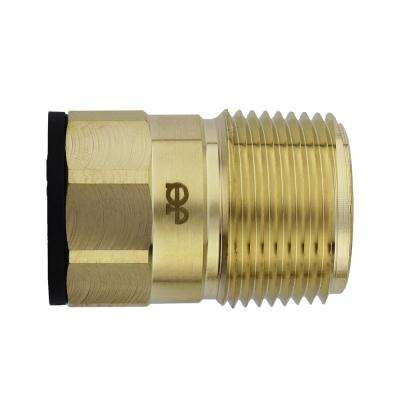 3/4 in. CTS x 1 in. NPT Brass ProLock Push-to-Connect Male Connector (5-Pack)