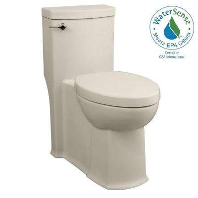 Boulevard 1-piece 1.28 GPF Right-Height Single Flush Elongated Toilet in Linen