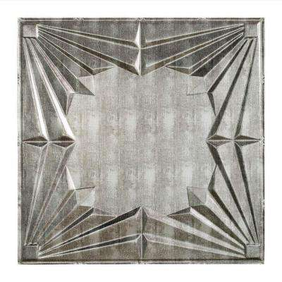 Art Deco - 2 ft. x 2 ft. Lay-in Ceiling Tile in Crosshatch Silver