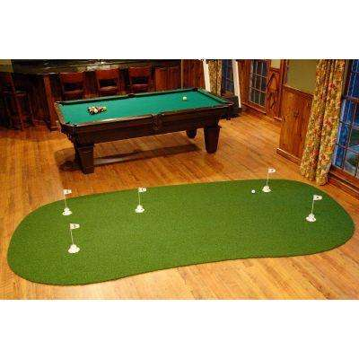 6 ft. x 12 ft. Indoor/Outdoor Synthetic Turf 5-Hole Practice Putting Golf Green