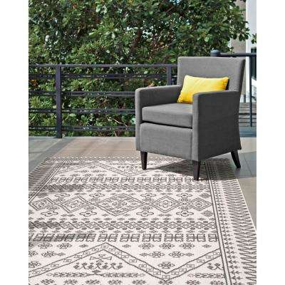 Kandace Outdoor Ivory 6 ft. 3 in. x 9 ft. 2 in. Area Rug