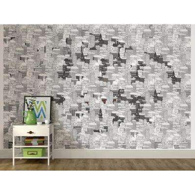 72 in. x 108 in. Limelight Coloring Wall Mural