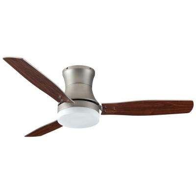 Modernaire 52 in. Satin Steel Ceiling Fan and Light