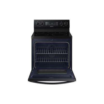 30 in. 5.9 cu. ft. Single Oven Electric Range with Self-Cleaning and Convection Oven in Black