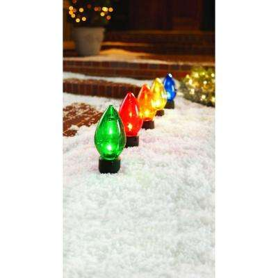 20 in. Giant C7 Multi-Color Pathway Lights (Set of 5)