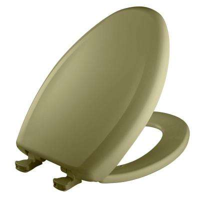 Slow Close STA-TITE Elongated Closed Front Toilet Seat in Avocado