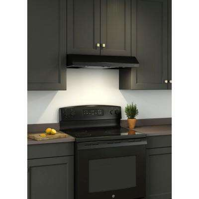 Sahale BKSA1 30 in. Convertible Under Cabinet Range Hood with Light in Black