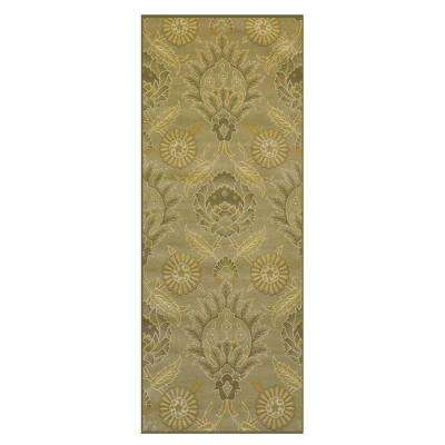 Jewel Olive 2 ft. 6 in. x 8 ft. Rug Runner