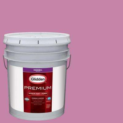 5 gal. #HDGR07U Pink Zinnia Bloom Eggshell Interior Paint with Primer