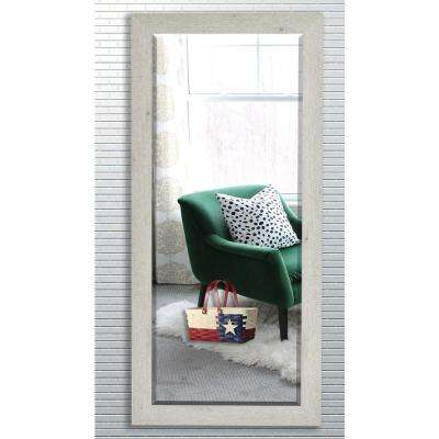 30.5 in. x 71 in. White Washed Antique Beveled Oversized Full Body Mirror
