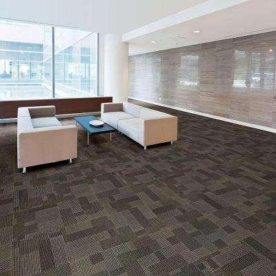 Rockefeller Wrought Iron Loop 19.7 in. x 19.7 in. Carpet Tile (20 Tiles/Case)